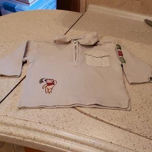 3/$20 Disney Store collared Winnie the Pooh shirt